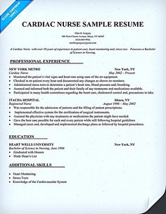 Nurse Resume Sample Nurse Resume Is What You Really Want When You Are Going  To Have