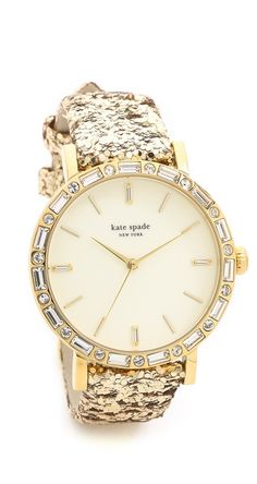 Glittery gold watch by kate spade new york