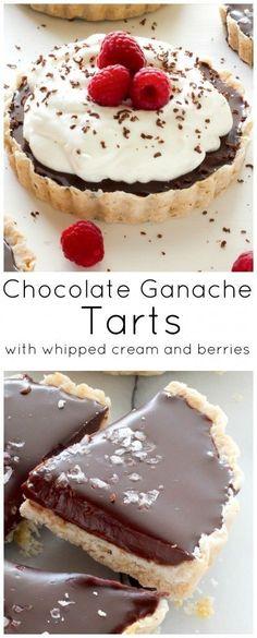 Homemade Chocolate Ganache Tarts are cold and refreshing for Summer dessert!