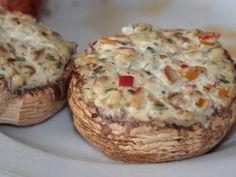 Gefüllte Champignons vom Grill