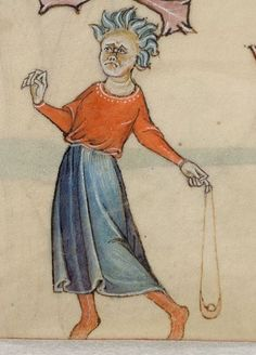 Detail from The Luttrell Psalter, British Library Add MS 42130 (medieval manuscript,1325-1340), f36r