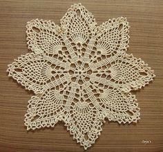 Ravelry: Easy Pineapple Doily pattern by Sylvia Landman