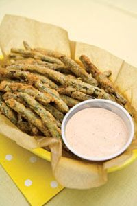 Fried green beans. (Could be good, could be bad! Probably not healthiest. need to try it.)