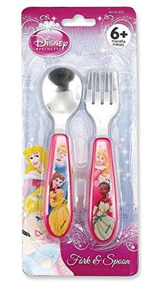 Princess Stainless Steel Fork & Spoon Set: Disney's Princess Stainless Steel Fork and Spoon. Easy-to-grasp eating utensils featuring baby's favorite characters. BPA and Phthalate free. Available from Regent Baby Products. Treating your baby royally since Baby Dolls For Kids, Little Girl Toys, Cute Little Baby, Toys For Girls, Disney Cups, Baby Disney, Disney Princess Nursery, Cotton Candy Fudge, Chocolate Candy Brands