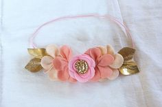 Felt Flower Crown // Pixie Crown // Pink Ombre by fancyfreefinery