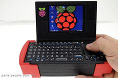 Pi-to-Go: a Raspberry Pi, screen and keyboard stuffed into a 3D-printed case