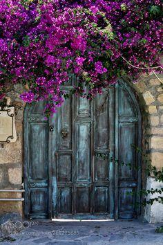 The Old Door by bseisselberg Cool Doors, Unique Doors, Art Du Monde, Garden Doors, Rustic Doors, Painted Doors, Doorway, Nature Pictures, Belle Photo