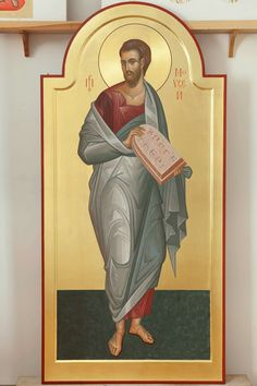 The Holy Prophet Moses, who saw God. Byzantine Icons, Byzantine Art, Religious Images, Religious Icons, Church Icon, Moise, Russian Icons, Old Testament, Orthodox Icons