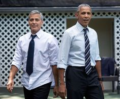 George Clooney and President Obama Playing Hoops is Perfection