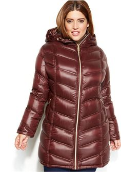 Calvin Klein Plus Size Quilted Down Packable Puffer Coat Klein Blue, Calvin Klein, Nylons, Coats For Women, Jackets For Women, Long Jackets, Plus Size Fall Outfit, Plus Size Coats, Puffy Jacket