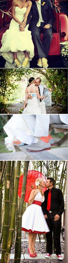 Como combinar el look de los novios en la boda