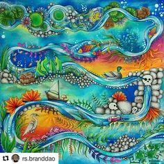 Maravilhoso demais! By @rs.branddao #johannabasford #florestaencantada #johannabasfordenchantedforest #johannabasfordsecretgarden #editorasextante #secretgardencoloringbook #secretgarden #colorindolivrostop #coloringbook #beautycolor #coloring #desenhoscolorir