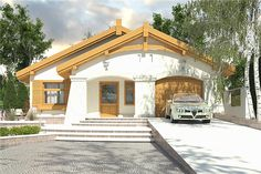 Village House Design, Village Houses, Beautiful House Plans, Beautiful Homes, Modern Bungalow House, Home Fashion, My House, Cabin, How To Plan