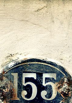 Random numbers out in the wild. enamel 166 with rust What's Your Number, Ivy House, Alphabet And Numbers, House Numbers, Love Letters, Typography Design, Logo Design, Signage, Blues