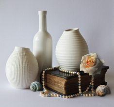 Ainda Life, Vasos, Decoração, Cerâmica, Branco