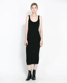 Image 1 of SLEEVELESS RIBBED DRESS from Zara
