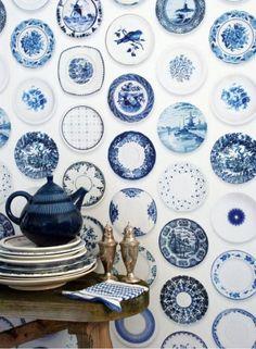 посуда.синее