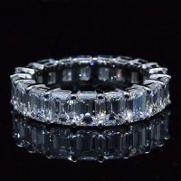 6.00 Ct. Emerald Cut Diamond Eternity Ring (Shared Prong)