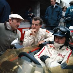 Colin Chapman, Jackie Oliver, and Graham Hill