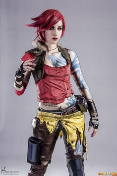 Character: Lilith the Siren (aka The Firehawk) / From: 2K Games & Gearbox Software's 'Borderlands' Video Game Series / Cosplayer:  Dawn Herr