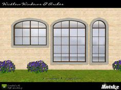 """""""Wicklow Windows and Arches"""" by Mutske.  Subscriber only.  Set includes 8 new windows and 2 arches. Recolorable?"""