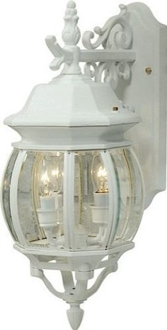 "Artcraft Lighting AC8361WH Classico Medium European Style Outdoor Wall Mount, White by Artcraft Lighting. $95.56. From the Manufacturer                Classico European styled medium outdoor wall mount (lantern-down), with clear glass and in white finish. For over 50 years, ARTCRAFT has earned a reputation for excellence in home lighting products that is the envy of many companies in North America. ARTCRAFT is a ""family"" owned business with many talented and skilled individu..."