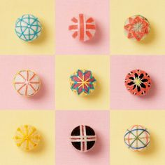 mini temari balls