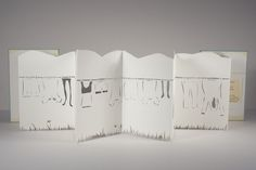 A Week's Worth - A hand-cut accordion style book by Melissa Chao, via Behance