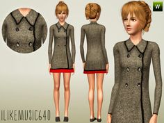 Wool Coat Dress by Ilikemusic640  http://www.thesimsresource.com/downloads/1182356