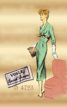 Sewing Pattern 1950s Dress Vogue Special by FloradoraPresents
