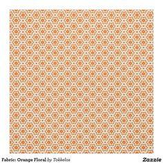 Fabric: Orange Floral