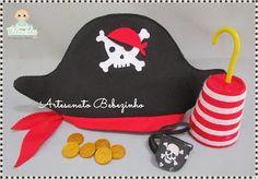 Artesanato Bebezinho: Kit de Pirata em Feltro