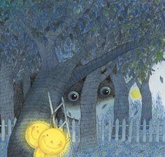 Al mirar por la ventana y ver brillar la Luna, el mundo recuperó la alegría. La Luna se olvidó #JimmyLiao Creative Illustration, Children's Book Illustration, Book Illustrations, Stars And Moon, Accent Colors, Pattern Art, Love Art, Childrens Books, History