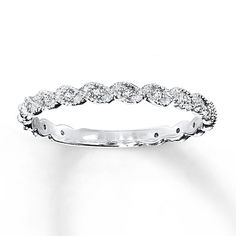 Diamond Ring 1/10 ct tw Round-cut 14K White Gold