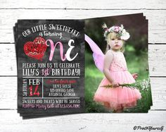 Items similar to Birthday Valentine Invitation // Personalized Printable First Birthday Valentines Day Photo Invitation // Valentines Day // Sweet Invite on Etsy Digital Invitations, Printable Invitations, Party Printables, Print Store, First Birthdays, Lily, Valentines, Trending Outfits, Celebrities