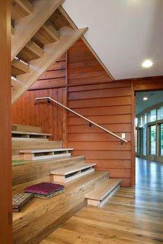 Songbird Lane Residence is a farmhouse transformed into a sustainable modern home by Reader & Swartz Architects, sited in Frederick County, Virginia. Edwardian House, Victorian Cottage, Victorian Homes, Edwardian Architecture, Modern Architecture, Wooden Staircases, Stairways, Master Suite, Virginia