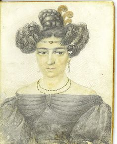 This 1830's portrait of a New Orleans free woman of color was in my collection