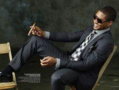 Usher in Tom Ford Suit :: Vegas Magazine Sharp Dressed Man, Well Dressed Men, Bodies, Tom Ford Suit, Usher Raymond, Cigar Men, Bronze, Gentleman Style, Gentleman Fashion