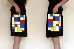 Red Blue Yellow Fold over clutch  women hand bag by efratul, $26.00