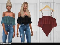 Tops/Blouses Found in TSR Category 'Sims 4 Female Everyday' Sims 4 Mods Clothes, Sims 4 Cc Kids Clothing, Star Citizen, Sims 4 Tsr, Sims Cc, Sims 4 Cas Mods, Cc Top, Sims 4 Dresses, Sims 4 Outfits