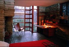 FLW - Falling Waters Corner Windows with FLW Chair
