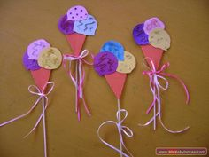 Dondurma Sanat Etkinlikleri - Önce Okul Öncesi Ekibi Forum Sitesi - Biz Bu İşi Biliyoruz Easy Crafts For Kids, Pre School, Preschool Activities, Recycling, Shapes, Education, Party, Craft, Manualidades