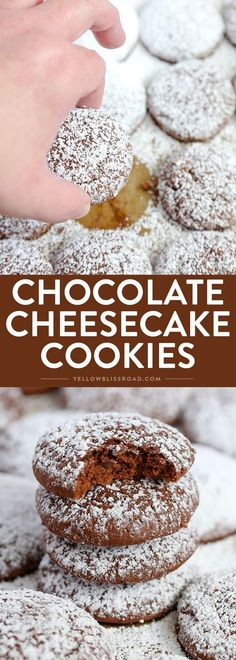Your new favorite cookie! These Chocolate Cheesecake Cookies are super creamy and tender and melt in your mouth delicious!