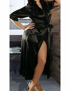 f806e781c3  9 Long Sexy Silk Kimono Dressing Gown Bath Robe Babydoll Lingerie  Nightdress 3TYPE