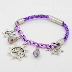 Fashionable Imitation Leather Charm Bracelets from Pandahall.com