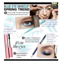 """""""How To Pull Off Blue Eye Makeup"""" by rvgems ❤ liked on Polyvore featuring beauty, Stila, CARGO and Too Faced Cosmetics"""