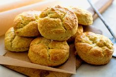 Biscuits are what take us into the kitchen today to cook: fat, flaky mounds of quick bread, golden brown, with a significant crumb Composed of flour, baking powder, fat and a liquid, then baked in a hot oven, they are an excellent sop for sorghum syrup, molasses or honey They are marvelous layered with country ham or smothered in white sausage gravy, with eggs, with grits