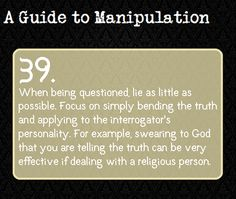 A Guide to Manipulation (Hey, I might need this for writing some time... maybe...)
