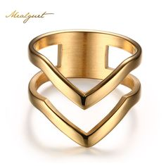 Like and Share if you want this  Meaeguet Jewelry Ring for Women Gold Plated Stainless Steel Exquisite Shiny Polished Double Chevron V Shape Knuckle Ring     Tag a friend who would love this!     FREE Shipping Worldwide     Get it here ---> http://jewelry-steals.com/products/meaeguet-jewelry-ring-for-women-gold-plated-stainless-steel-exquisite-shiny-polished-double-chevron-v-shape-knuckle-ring/    #bracelet