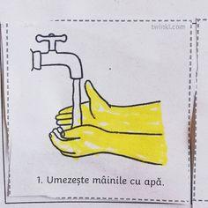 Cum sa te speli pe mâini — mic ghid practic.💛 .  Știai că produsele antibacteriene nu distrug virușii? 🤔 Probabil că da. // .  Spălatul pe mâini cu apă și săpun este cea mai eficienta metodă de a îndepărta și omorî virusul dacă a ajuns pe piele. .  Când ajungi acasă spală-te imediat pe mâini, cu săpun. . .  Sfat: Dacă ai ieșit din casă pentru a-ți lua provizii sau pentru că nu ai încotro și nu ai nici un dezinfectant la îndemână, evită să-ți atingi fața/părul (bun exercițiu pentru când va…
